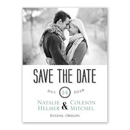 A Wedding Celebration - Save the Date Card