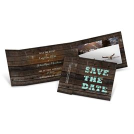 Save The Dates: On Board Fold Up Save the Date