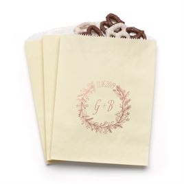 Wreath Frame - Ecru - Favor Bags