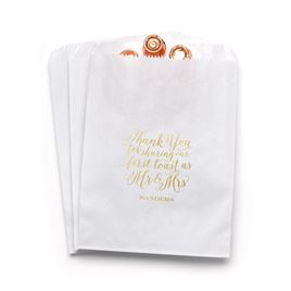 First Toast - White - Favor Bags