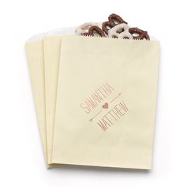 Heart and Arrow - Ecru - Favor Bags