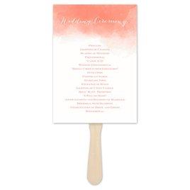 Wedding Ceremony Decorations: Watercolor Beginnings Program Fan
