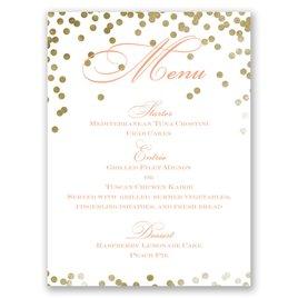 Wedding Menu Cards: Gold Polka Dots Menu Card