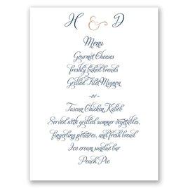 Perfect Pair - Rose Gold Foil - Menu Card