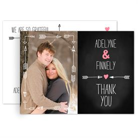 Rustic Thank You Cards: Points to Love Thank You Postcard