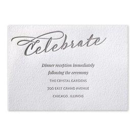 Wedding Reception and Information Cards: Modern Pair Letterpress Reception Card