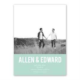 Be Bold - Save the Date Card