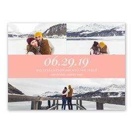 Romantic at Heart - Save the Date Card