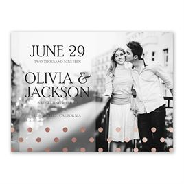 Hello Contempo - Rose Gold - Foil Save the Date Card
