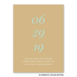 Perfectly Mod - Save the Date Card