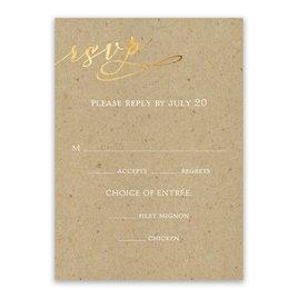 Rustic Glow - Gold Foil - Response Card