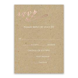 Rustic Glow - Rose Gold Foil - Response Card