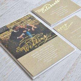 Rustic Glow - Gold Foil - Invitation