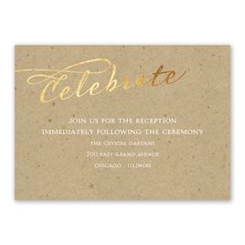 Rustic Glow - Gold Foil - Reception Card