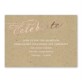 Rustic Glow - Rose Gold Foil - Reception Card