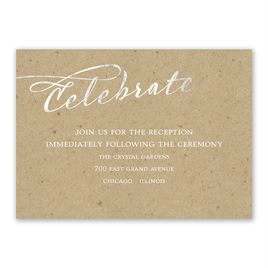 Rustic Glow - Silver Foil - Reception Card