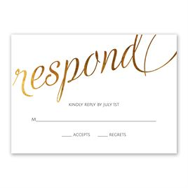 Wedding Response Cards: Old Style Script Foil Response Card