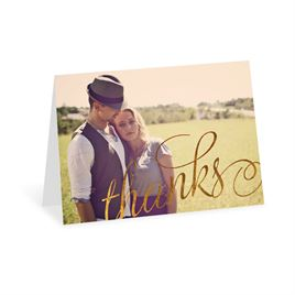 Old Style Script - Gold Foil - Thank You Card