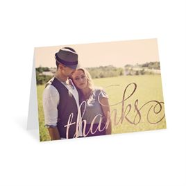 Old Style Script - Rose Gold Foil - Thank You Card