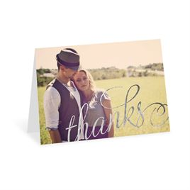 Old Style Script - Silver Foil - Thank You Card