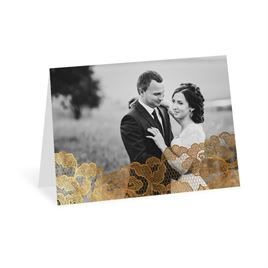 Thank You Cards: Lace Reflections Photo Foil Thank You Card