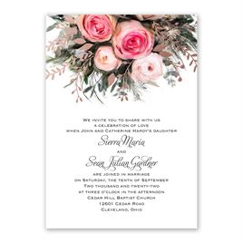Ethereal Garden with Wording Options - Rose Gold - Foil Invitation