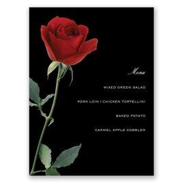 Wedding Menu Cards: Rose Red Menu Card