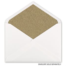 Gold Glitter - Envelope Liner