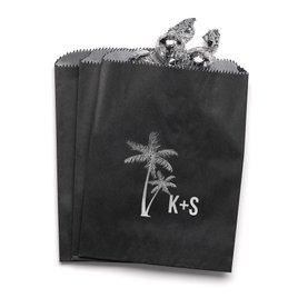 Palm Trees - Black - Favor Bags