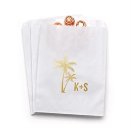 Palm Trees - White - Favor Bags
