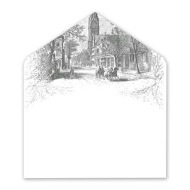 Country Christmas - Designer Envelope Liner