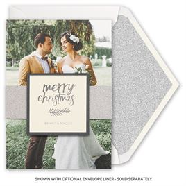 Silver Christmas - Real Glitter Holiday Card