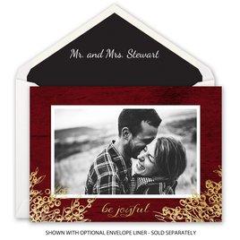Be Joyful - Foil Holiday Card
