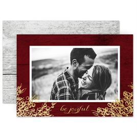 Holiday Cards for Families: Be Joyful Foil Holiday Card