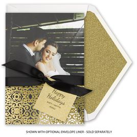 Gold Details - Real Glitter and Foil Holiday Card