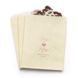 Mr and Mrs - Ecru - Favor Bags