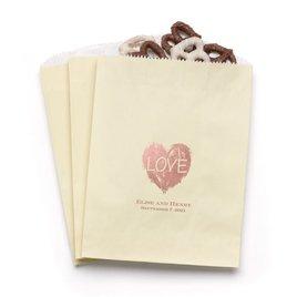 Brush of Love - Ecru - Favor Bags