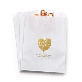 Brush of Love - White - Favor Bags
