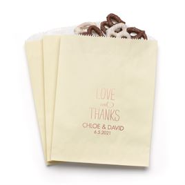 Love and Thanks - Ecru - Favor Bags