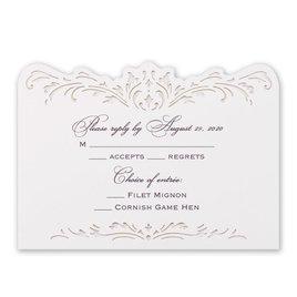 Wedding Response Cards: Intricate Beauty Laser Cut Response Card