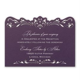 Wedding Reception and Information Cards: Intricate Beauty Laser Cut Reception Card