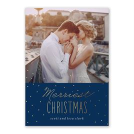 Merriest Christmas - Foil Holiday Card