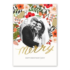 Brilliant Holiday - Foil Holiday Card