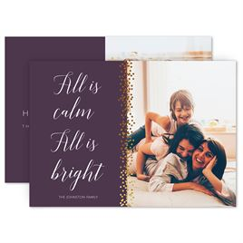Holiday Cards for Families: All Is Bright Foil Holiday Card