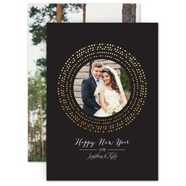 Gold: Shine Bright Foil Holiday Card