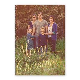 Bright Christmas - Foil Holiday Card