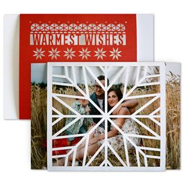Holiday Cards for Families: Playful Winter Laser Cut Holiday Card