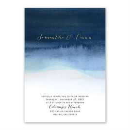 Mysterious Love - Navy - Foil Invitation