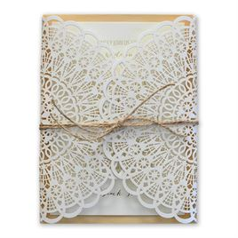 Simple Luxury - Real Wood Invitation with Foil