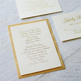 Natural Luxury - Real Wood Invitation with Foil